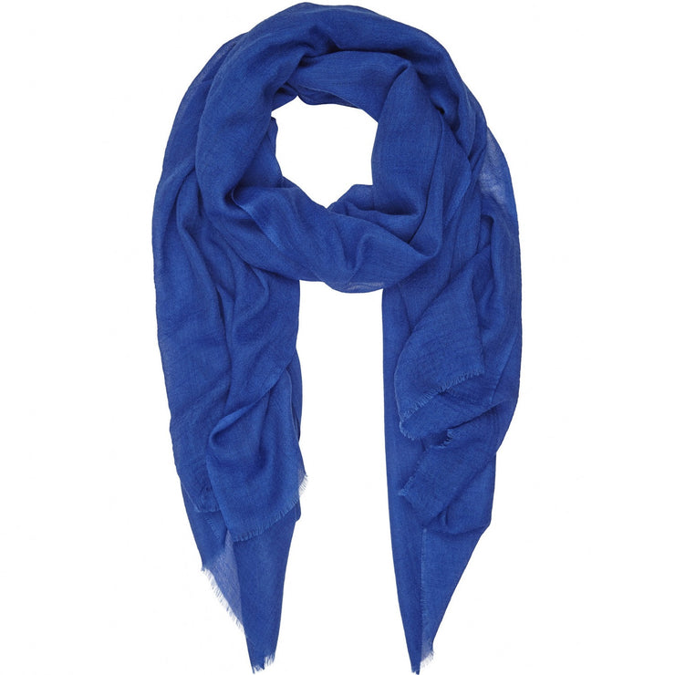Rene 14 Cornflower silk and wool scarf