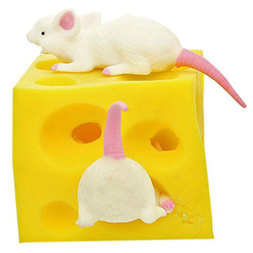 Mouse and Cheese Toy  Sloth Hide and Seek Stress Relief Toy