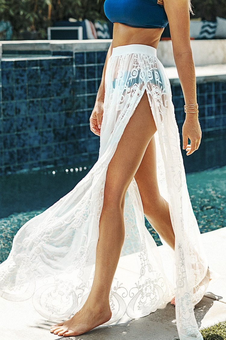 Bohemian High Slit Skirt Swimsuit Cover Up