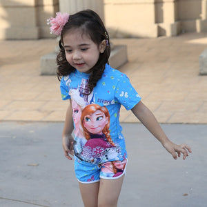 Girls Princess Two Piece Bathing Suit (multiple styles available)