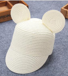 Girls Wide Brim Straw Cap (multiple colors available)