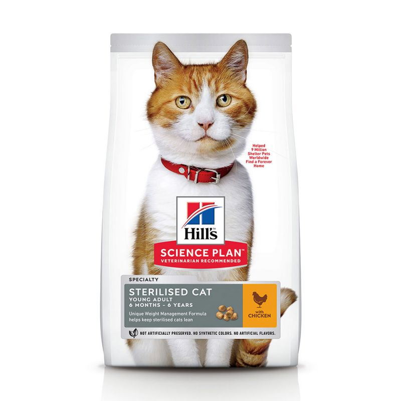 Hill's Young Adult Sterilised con pollo pienso para gatos