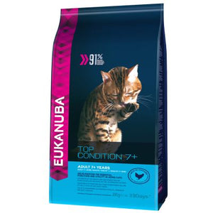 Eukanuba Top Condition 7+ Mature / Senior 2 KG  para gatos