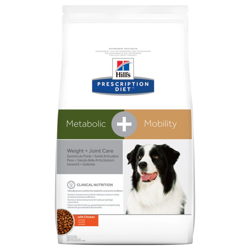 Hill's Metabolic + Mobility Prescription Diet pienso para perros 12 KG