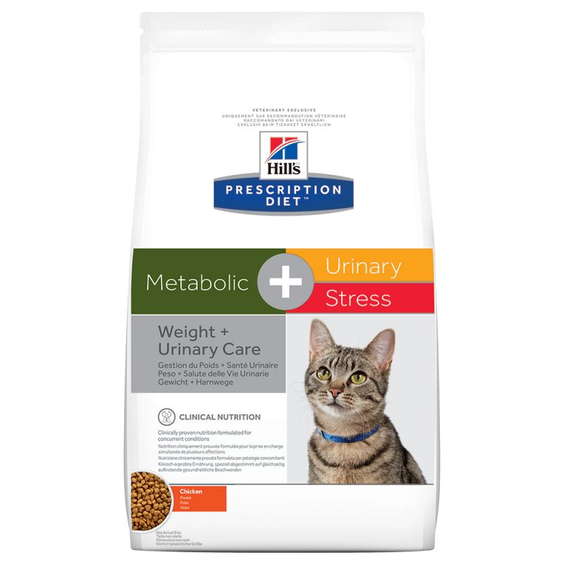 Hill's Metabolic + Urinary Stress Prescription Diet pienso para gatos 1,5 KG