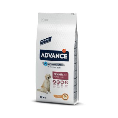 Advance Maxi + 6 Senior con pollo Perro 14 KG