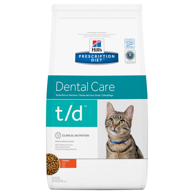 Hill's t/d Prescription Diet Dental Care pienso para gatos 1'5 KG