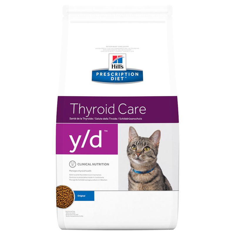 Hill's y/d Prescription Diet Thyroid Care pienso para gatos 5 KG