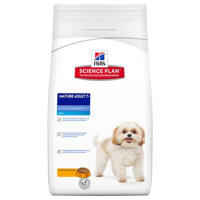 Hill's Mature 7+ Mini Active Longevity con pollo Perro 7'5 KG