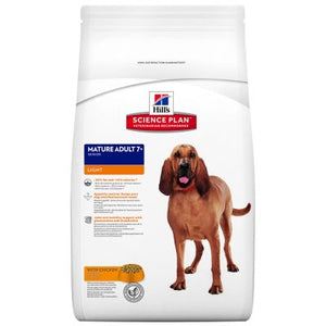 Hill's Mature 7+ Light con pollo Perro 12 KG