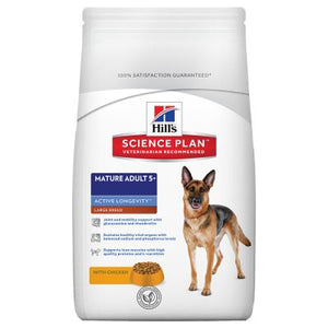 Hill's Mature 5+ Large Breed Active Longevity con pollo Perro 18 KG