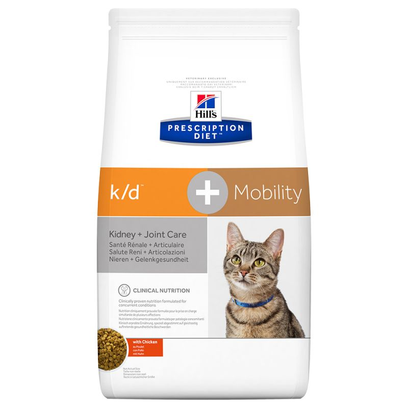 Hill's k/d + Mobility Prescription Diet pienso para gatos 2 KG