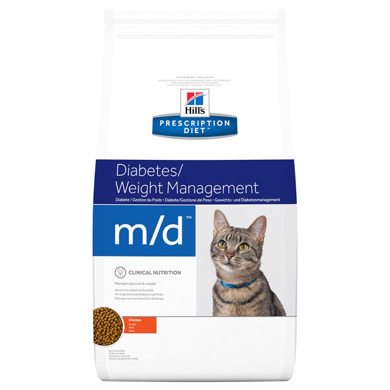 Hill's m/d Prescription Diet Diabetes/Weight Management pienso para gatos 1'5 KG