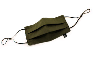 atelierXIX_Facemasks_DoublePleat_Ears_WovenCotton_Olive_Open