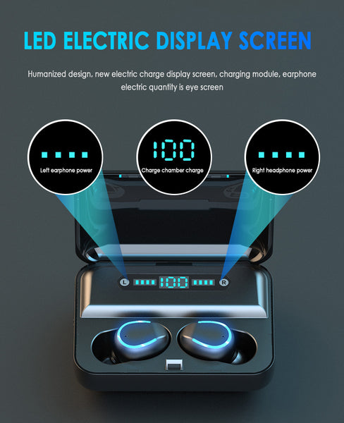 Digital Display Headsets Touch Button LED