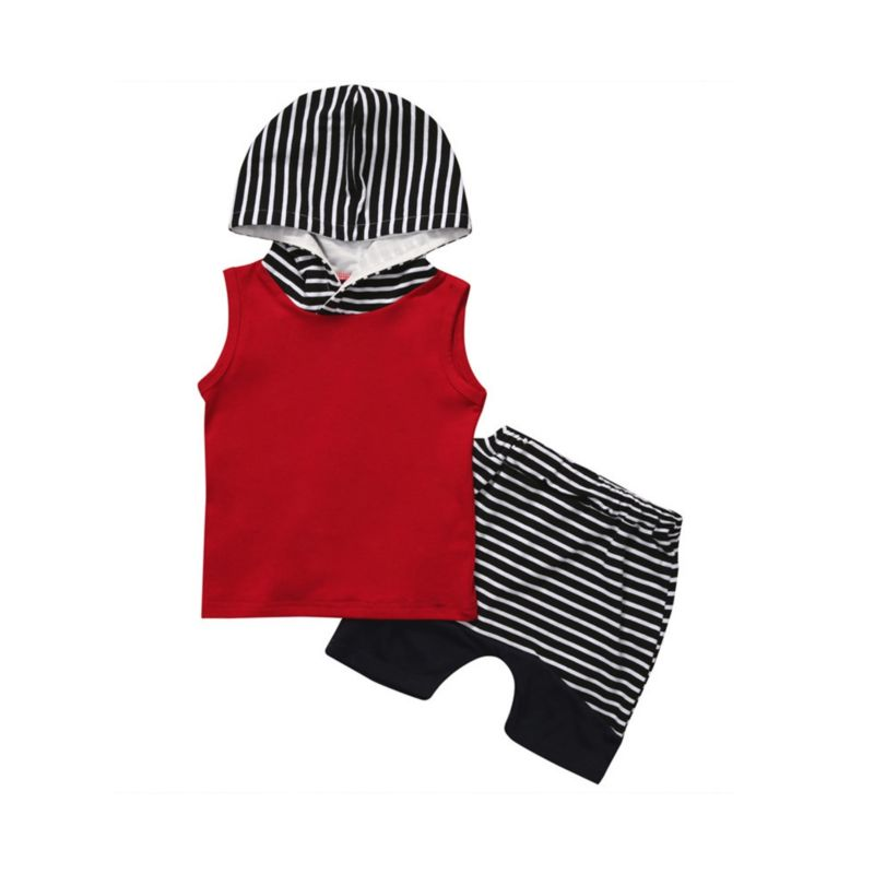 Baby Boy Hooded Tank Top Set