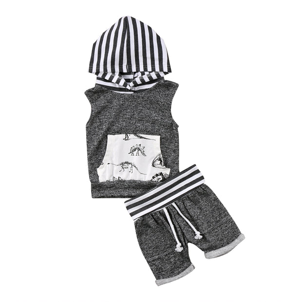 Baby Dino Sleeveless Set