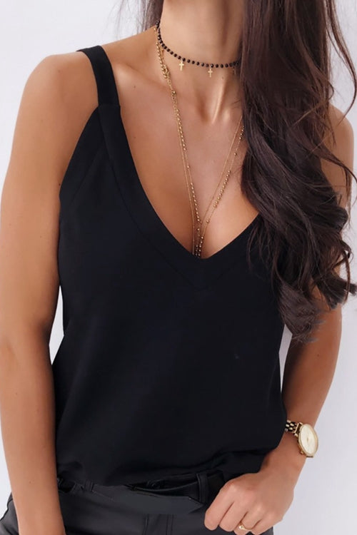 V-neck Thin Strap Casual Tank Top