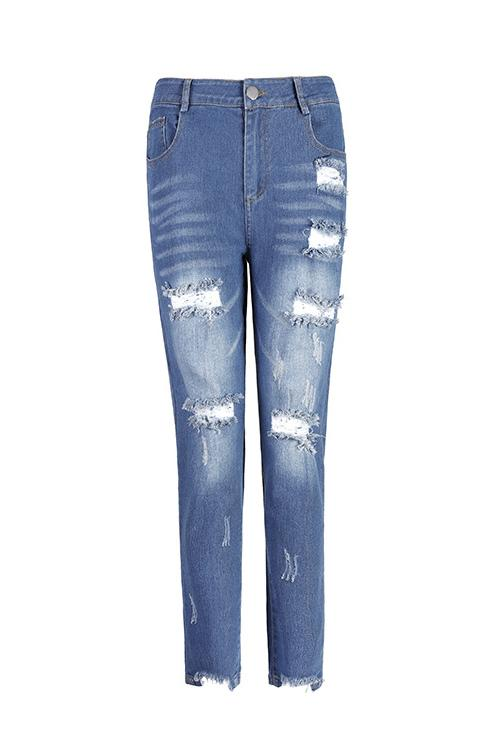 Casual Boot Cut Blue Jeans