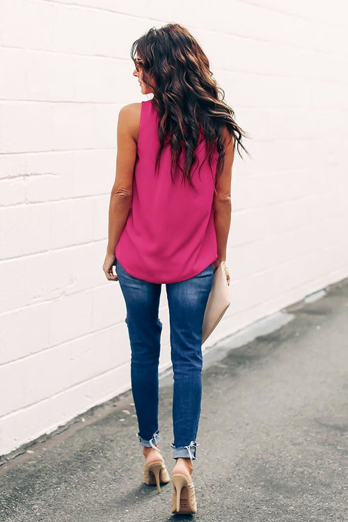 Plain color Loose-Fitting tank top