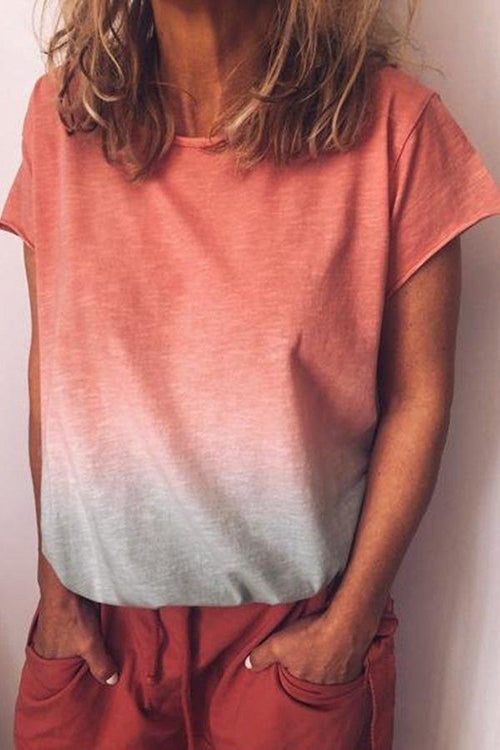 Gradient loose-fitting T-shirt