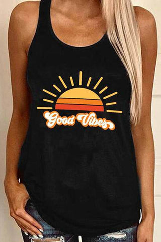 Good vibes printed tank top