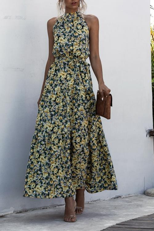 Small Floral Sleeveless Dresses