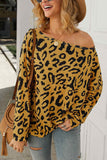 O Neck Leopard Sweater