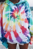 Tie-Dye Casual Long Sleeve Hat T-Shirt