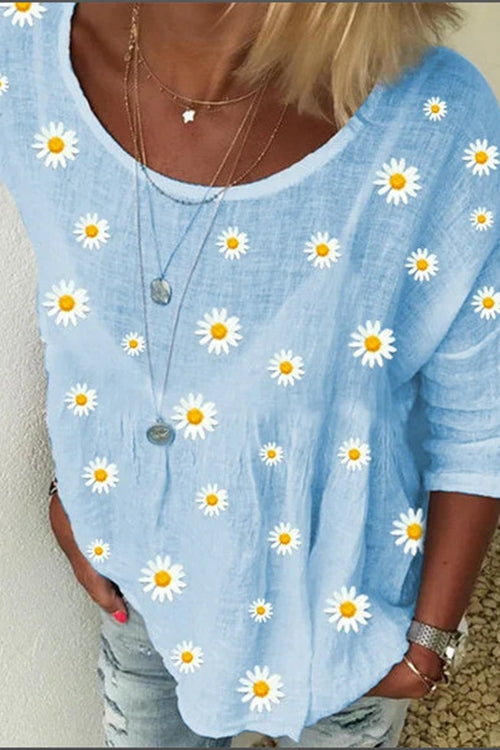 Small Daisy Print T-Shirt