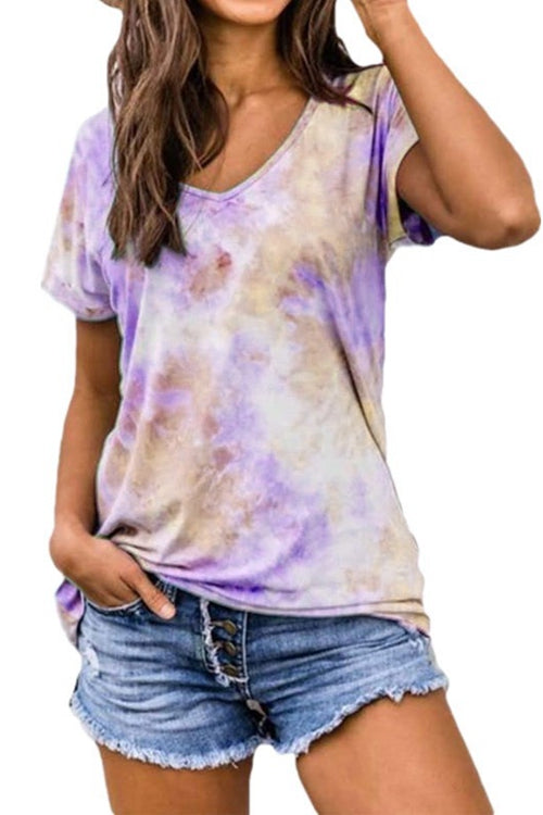 Printing and dyeing loose short-sleeved t-shirts