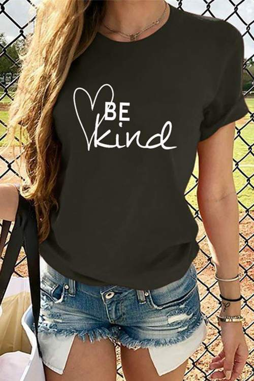 BE Kind Printed Short-Sleeved T-Shirt