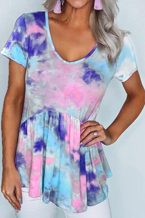 Color-changing tie-dye T-shirts