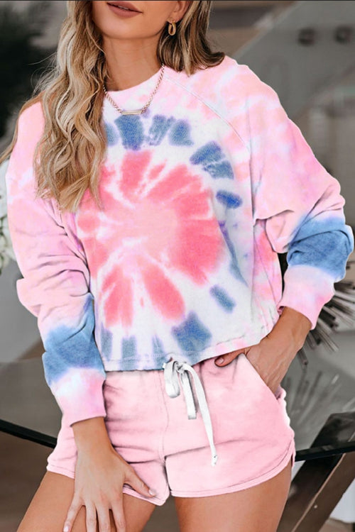 Tie-Dye Printed Long-Sleeve Suit