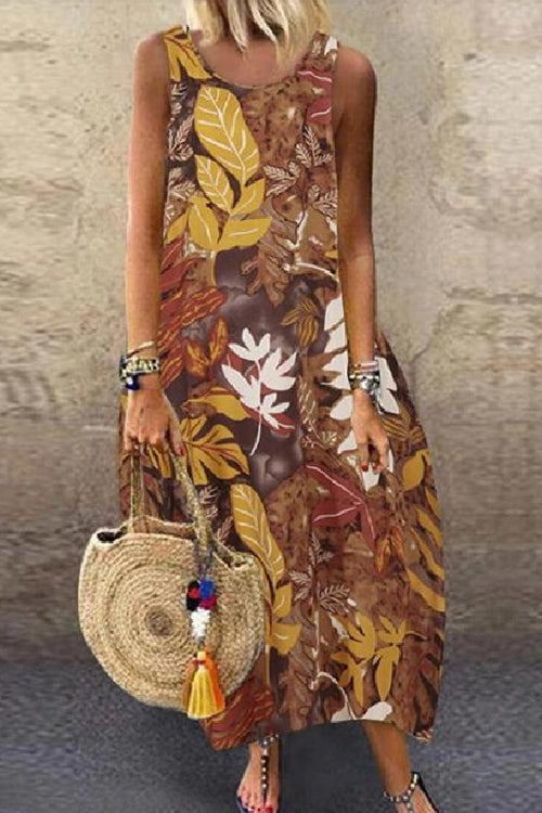 Printed Casual Sundress