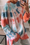Loose  Round Neck Tie-Dye T-Shirt