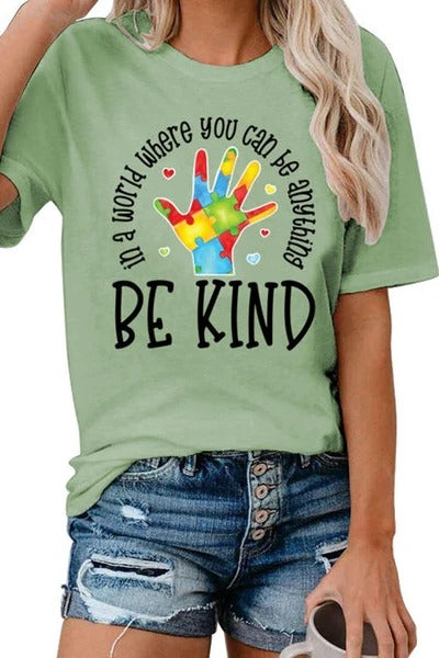 BE KIND Round Neck T-Shirt