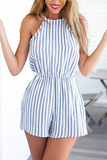 Striped Printed Sexy Romper