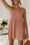 Simple Round Neck Casual Dress