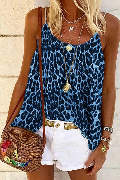 Leopard Printed Grace Tank Top