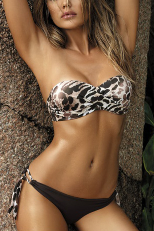 Sexy Leopard Printed Two-Piece Swimsuit