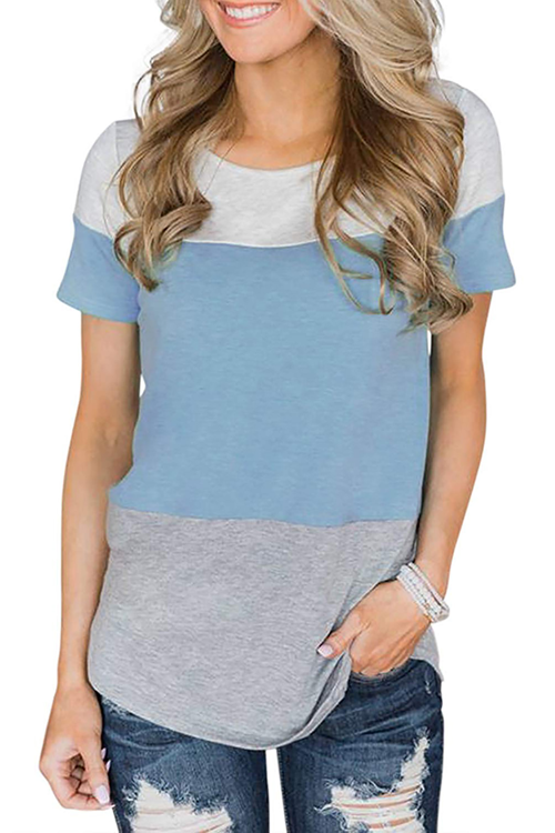 Lace Patchwork Round Neck T-Shirt