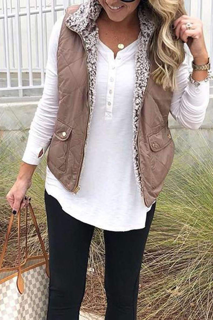 Pocket Design Khaki Vest (4 Colors)