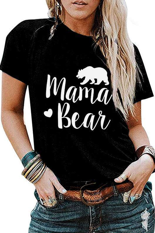 MAMA BEAR Printed Short Sleeve T-Shirt