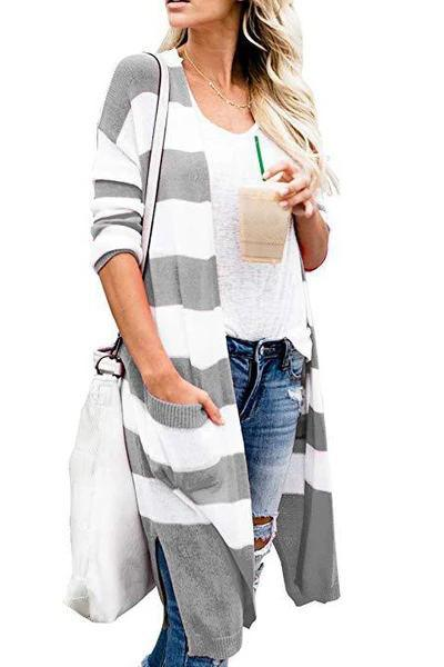 Striped Black Cardigan(5 colors)