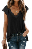 Lace Patchwork Casual T-Shirt