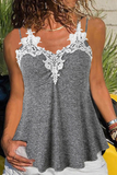 Lace Patchwork Slim Tank Top