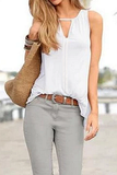Solid V Neck Tank Top