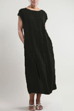 Simple Round Neck Sleeveless Maxi Dress