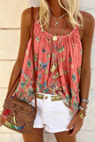 Butterfly Printed Loose Tank Top